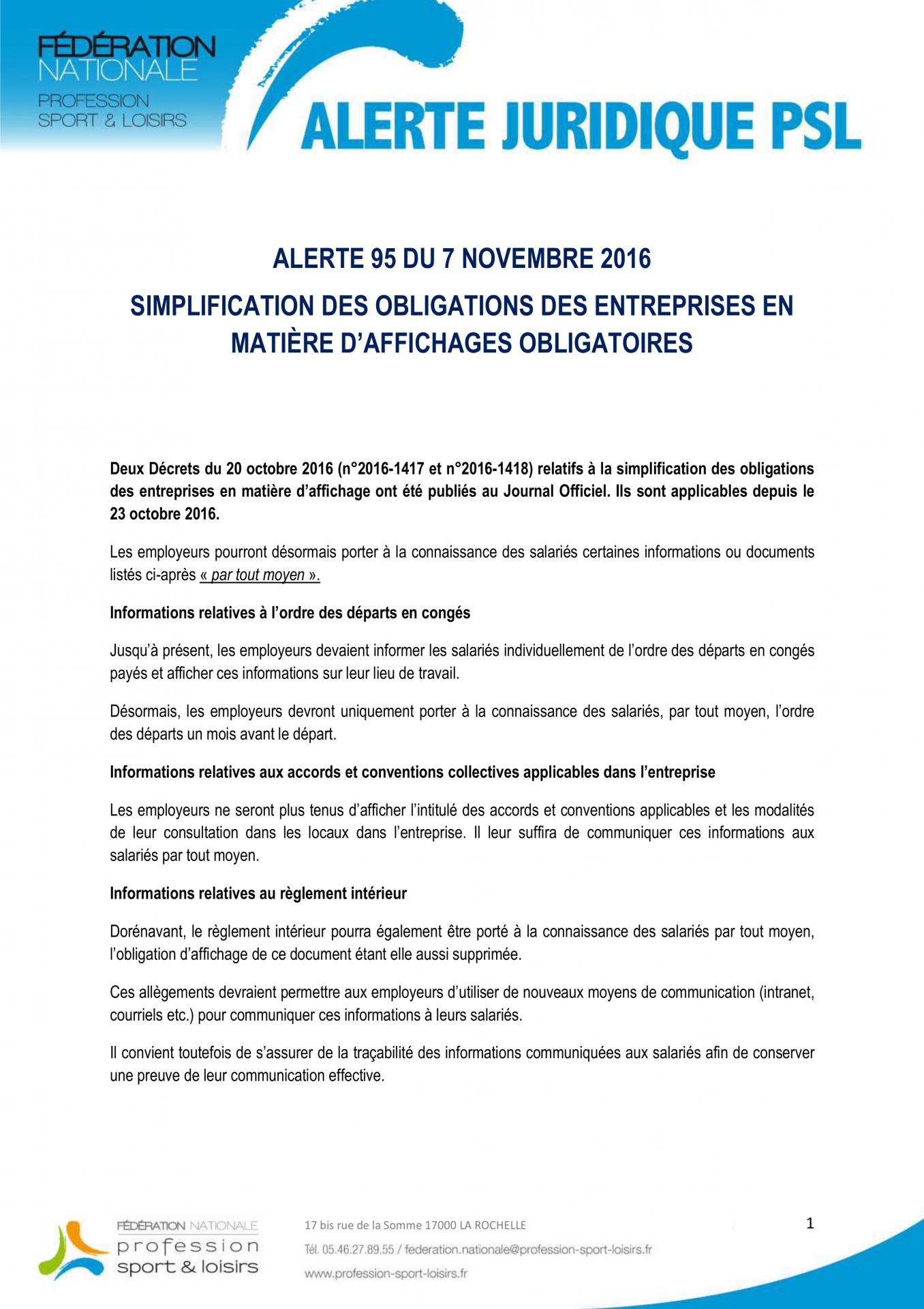 161104 alerte 95 simplification des obligations des entreprises en matiere daffichages obligatoires